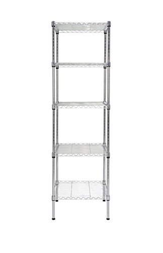 Finnhomy Heavy Duty 5 Tier Wire Shelving Unit NSF CERTIFIED 5 Shelves Storage Rack Thicken Steel Tube Kansas