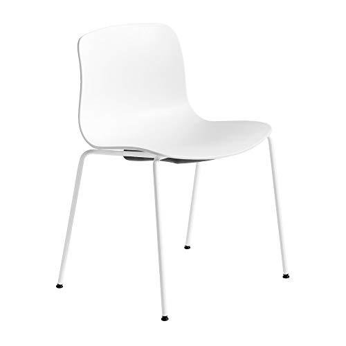 HAY About a Chair AAC 16 Stuhl, weiß Sitzschale Polypropylen Gestell Stahl pulverbeschichtet weiß mit Kunststoffgleitern