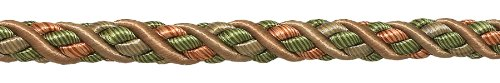 8.2 Meter Value Pack of Large Lt Bronze, Olive Green, Terracotta Baroque Collection 11mm Decorative Cord Without Lip Style# 716BNL Color: CHAPARRAL - 5615 (27 Ft / 8.2 Meters)