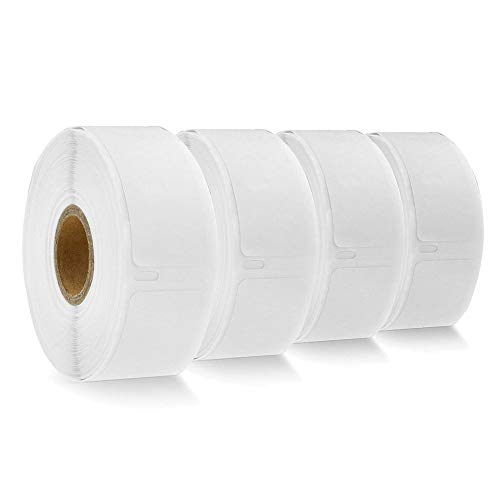 """COLORWING Compatible Multi-Purpose Labels Replacement for Dymo 30336 LW Multi-Purpose Labels Small 1"""" x 2 1/8""""(25mm x 54mm), White, for Dymo LabelWriter 450 Turbo and 450, 4 Roll - 500 Labels/Roll"""