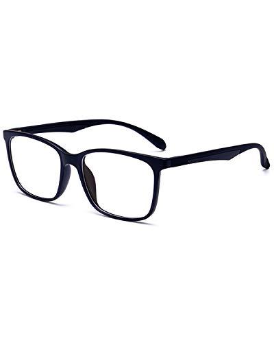 ANRRI Blue Light Blocking Glasses, Anti Eyestrain Lens Lightweight Frame Eyeglasses, Black, Men/Women (Health and Beauty)