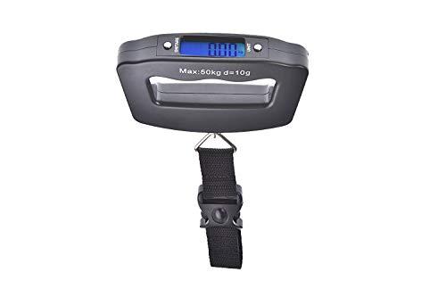 Quantum Abacus Elektronische Reisewaage/Hängewaage/Gepäckwaage/Taschenwaage/Fischwaage 50kg/10g - Mod. A09-01_B
