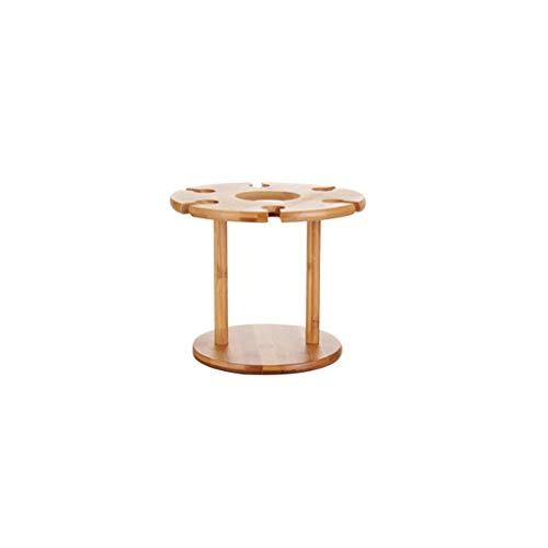 ZHJDX Copa de Secado de Vino Estante de Almacenamiento de bambú Estante de Almacenamiento Botella de Pantalla Oficina Home Home Supplies