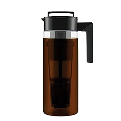 Takeya Patented Deluxe Cold Brew Iced Coffee Maker with Airtight Seal & Silicone Handle, 2 Quart