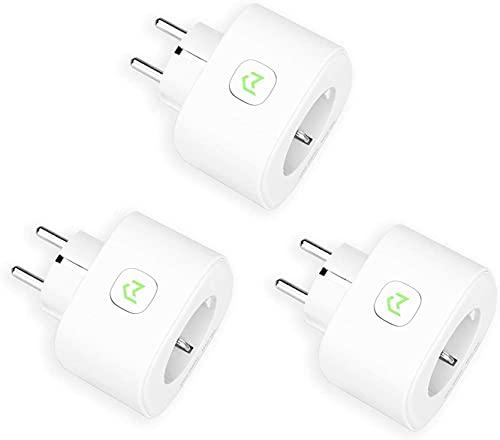 Enchufe Inteligente, Mide el Consumo 16A 3680W Wi-Fi Smart Plug, con Control Remoto Meross App. Compatible con Alexa, Google Assistant y SmartThings. Paquete de 3