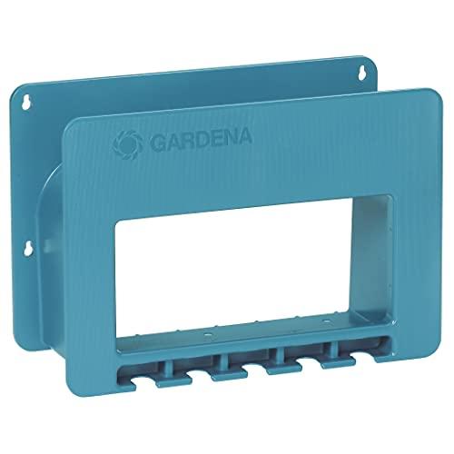 Gardena System-Schlauchboy: Gartenschlauch-Halterung für die Wand, platzsparende Aufbewahrung für Gartenschlauch, mit Halterungen für Spritzen, Brausen und anderen Gardena Systemteilen (238-20)