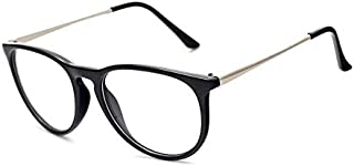 Unisex Eyeglasses Frame Oval Glasses Clear Lens With Gift Box