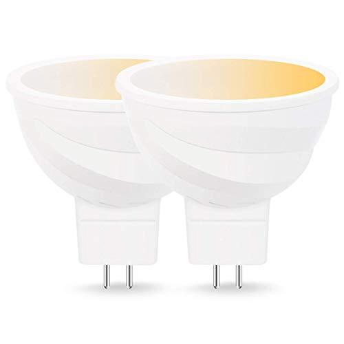 Lohas–Intelligentes Leuchtmittel, Spotlight, LED-Lampe, mit Fassung MR16, weiß (2000–6500K), Leistung 5W, kompatibel mit Alexa und Google Home, 2Stück