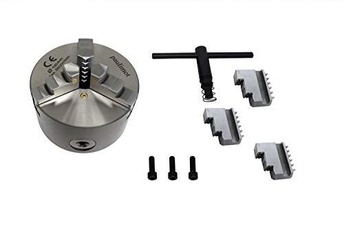 PAULIMOT 3-Backen-Futter für Drehbank, 100 mm mit 3-Loch-Aufnahme