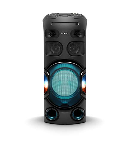 Sony MHC-V42D Bluetooth Party Lautsprecher (USB, CD/DVD, HDMI, One Box Hifi Music System, Gestensteuuerung, Lautsprecherbeleuchtung, kompatibel mit Party Chain) schwarz