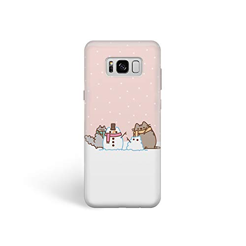 Phone Case Cute Winter Cats for Samsung S7 Edge Hard Case Durable Protective Shell Cover Case (Cute Cat Snowman, Samsung Galaxy S7 Edge)