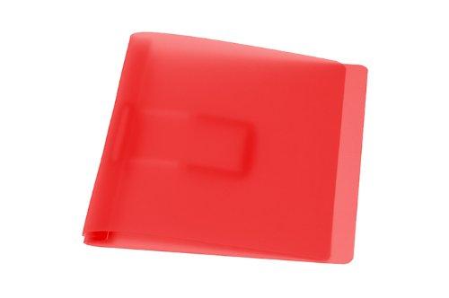 Schnellhefter, rot mit flacher, elastischer Schlauchheftung