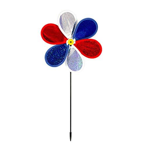 WOWOWO Pailletten Windmühle Bunte Wind Spinner Windräder Garten Hof Patio Rasen Dekor