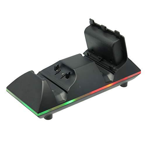 Konix Station de Recharge Batterie Xbox One - LED Indication - Chargeur de Batterie Manette Xbox One - 2 Batteries et Cordon Inclus