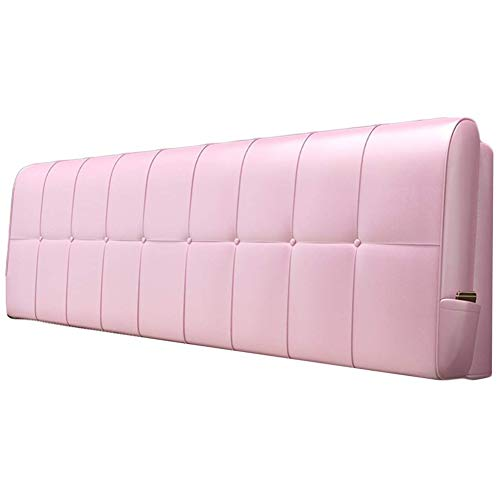 QIANCHENG-Cushion Kopfteil Rückenlehnen Bett Kissen Keilförmige Rückenlehne Lumbalpelotte Weiche Tasche Leicht zu reinigen Familienzimmer PU, 5 Farben (Color : #5, Size : 120x58cm)