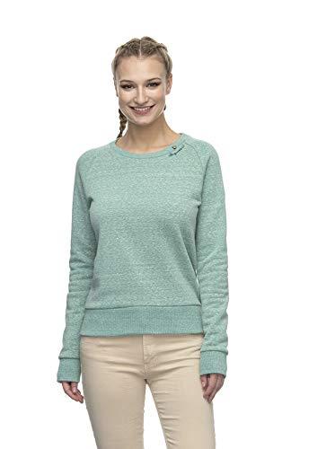 Ragwear JOHANKA Damen,Streetwear,Sweatshirt,Pullover,Rundhalsausschnitt,vegan,meliert,Pale Green,S