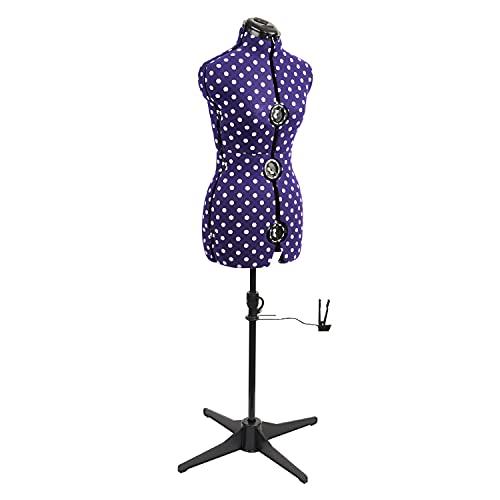 Maniqui Costura Ajustable Lunares Púrpura 8-Partes   Pequeño (S) [Talla EUR 38 a 44]