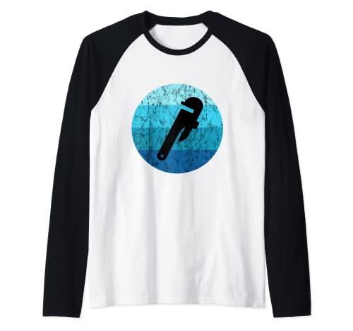 Plumber Pipe Llaves Pipefitter Water Ocean Plumbing Camiseta Manga Raglan