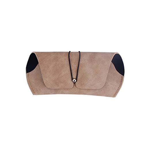zwyjd Funda de piel sintética portátil de viaje suave para gafas de sol para mujeres, hombres y niños, color marrón