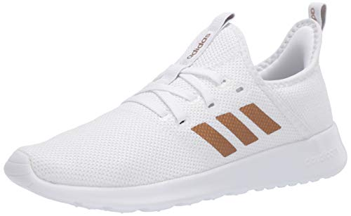 adidas Women's Cloudfoam Pure Running Shoe, White/Tactile Gold, 7 Medium US