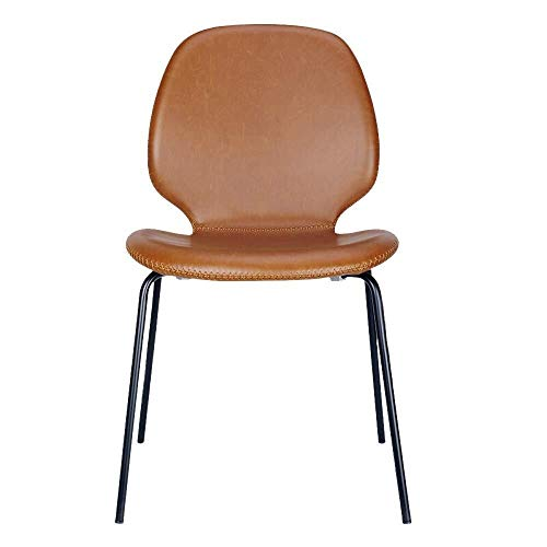 XUSHEN-HU Esszimmerstühle, moderne, minimalistische Kommode, Esszimmerstuhl, wasserdicht, geeignet für Zuhause, Hotel für Restaurant, Lounge (Farbe: Braun, Größe: 49 x 47 x 83 cm)