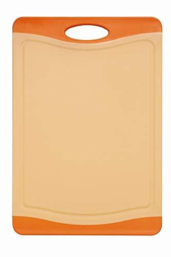 culinario Schneidebrett Orange ca. 44 x 30 cm, mit Saftrinne, beidseitig verwendbar