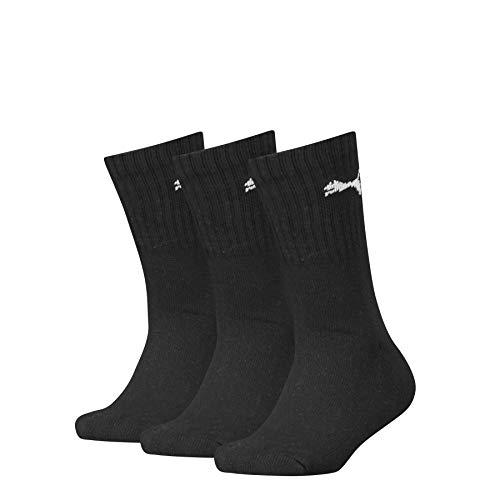 PUMA Junior Sport Socks (3 Pack) Calzini, Black, 31-34 (Pacco da 3) Unisex-Bambini