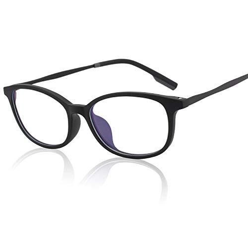 GQUEEN Blaues Licht, das Computer-Gläser, Antiblendung, Anti-Augenermüdungmit TR90 mattem Rahmen-transparenter Linse, GQ78