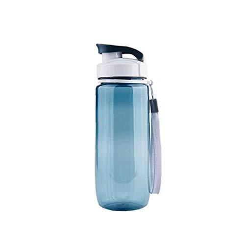 Deportes Portátil Taza De Agua De Plástico Botella De Consumición De La Taza Taza Del Viaje Hermética Transparente Con Correa Gris 590ml Opción Ideal
