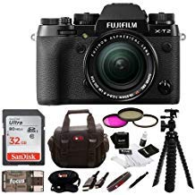 Fujifilm X-T2 Mirrorless Digital Camera w/ 18-55mm Lens +Focus 32gb Gadget Bag