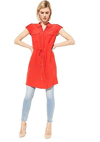 COMMA 81.004.12.2058 Bluse, Damen, Rot 40 EU