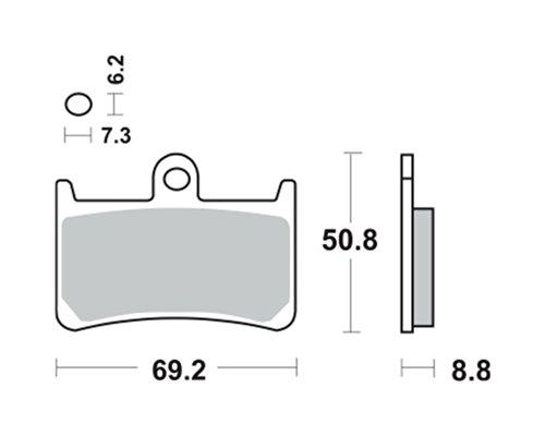 Bremsbeläge TRW MCB611SV für YAMAHA YZF 1000 R1 RN09 02-03 (vorne)