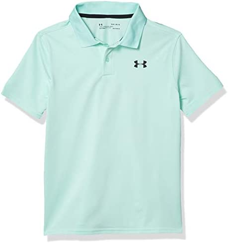 Under Armour Boys Performance 2 0 Golf Polo Aqua Float 791 Black Youth Large product image