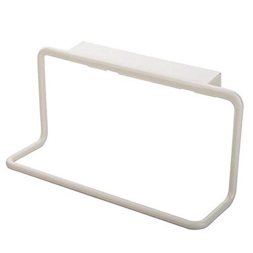 1 PC Handdoekrek Hangende houder Organizer |Handdoek Brack for Keuken Badkamer |Boven de deur kabinet Cupboard Hanger Daorkanduhp ZHW345 (Color : White)