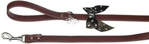Trilly tutti Brilli Lia Collier pour Chien avec nœud décoré Swarovski Marron 25 cm