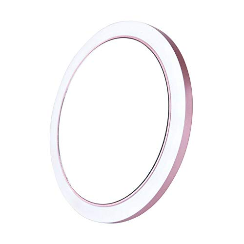 Maquillage portable mini maquillage lumineux maquillage petite main petite poche ronde miroir de voyage Miroir de maquillage (Color : Pink)