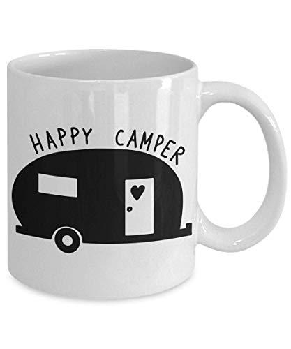 Happy Camper - Taza de acampada para acampada y campista, regalo para camping, caravana, divertida taza de vacaciones