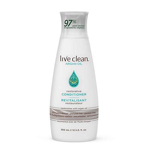 Live Clean Argan Oil Restorative Conditioner, 12 oz.