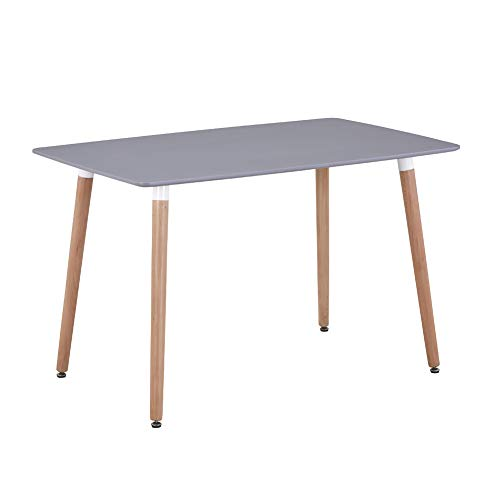 GOLDFAN Dining Table Rectangle Kitchen Table Modern Wooden Table Adjustable...