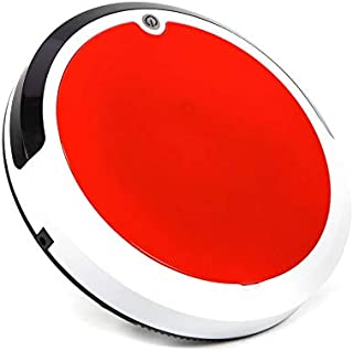 MIGHTYDUTY Automatic Robot Vacuum Cleaner for Home Cleaning Hardwood Floor Carpet Pet Fur Sweeping Robot High Suction Red(USA Standards
