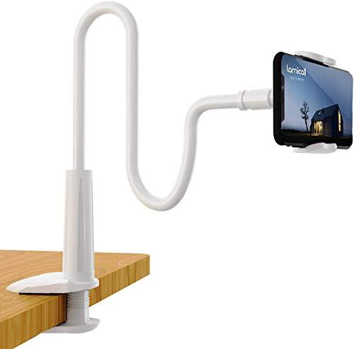 Collo Oca Supporto Regolabile,Supporto per Cellulari e Tablet ,Universale Collo Oca Supporto Cellulare Porta,per iPhone 11 XS Max XR X 8 7 6 Plus 5 4, Huawei,Altri Smartphone(bianca)