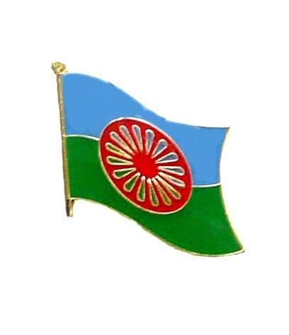 Flaggen Pin Sinti & Roma Fahne Flagge Anstecknadel
