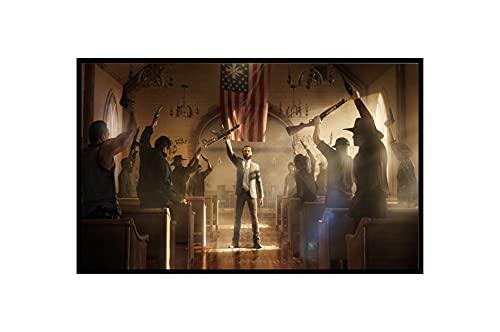 Quadro Decorativo Poste Far Cry 5 Gameplay Ilha Ubisoft