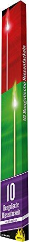 10 Bengalische Fackeln Gesamtlänge ca.50 cm , Brenndauer 60-80 Sek. gemischte Farben ( Rot und Grün)