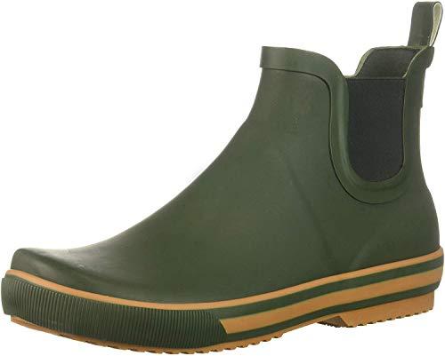 Rocket Dog Women's Rainbow Rubber Rain Boot, Green, 7 Medium US
