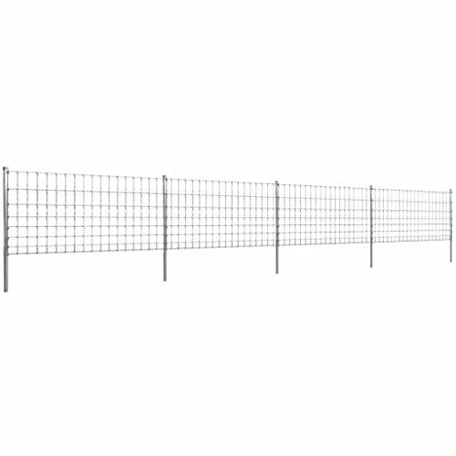 Lingjiushopping de clôture 50 m avec Poteau galvanisé clôture de Fil 100/8/15 Wire de près : Contenu du Fil Horizontal : 8