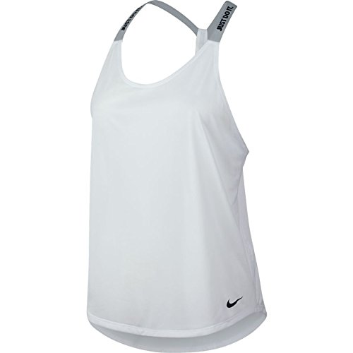 NIKE Women's Dry Performance Athletic Training Tank 831312 (S, 100 White/Pure Platinum/Black)