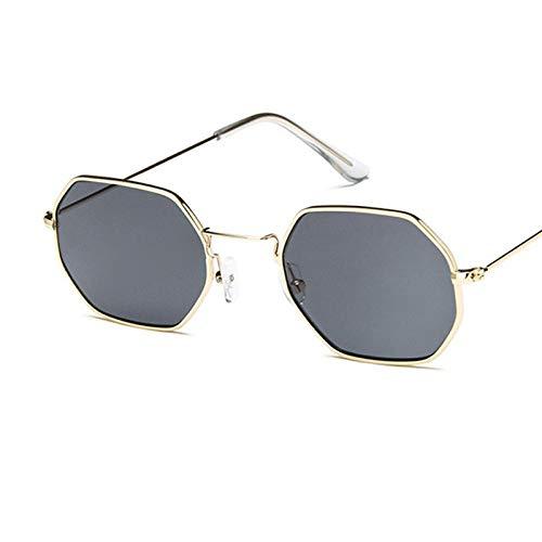 Gafas De Sol Polarizadas Gafas De Sol De Moda para Mujer Diseñador De La Marca Marco Pequeño Polígono Lente Transparente Gafas De Sol Hombres Gafas De Sol Vintage Hexágono Mar