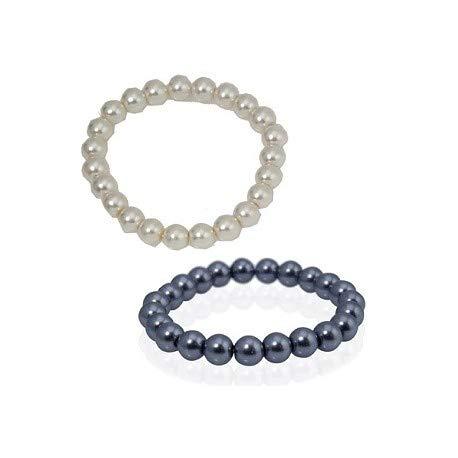 Lote de 50 Pulseras Ajustables - Pulseras perlas bolas para Detalles, Regalos de Bodas, Bautizos y Comuniones