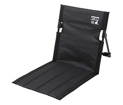 キャプテンスタッグ(CAPTAIN STAG) アウトドアチェア チェア グランドチェア 座椅子 フィールド座椅子 幅40×奥行68×高さ39cm 重量約530g 収納バッグ付き ブラック グラシア UC-1803